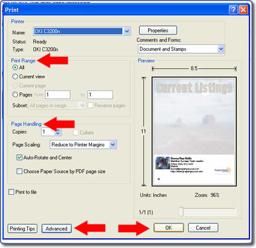 Print-On-Demand PDF Print Dialog